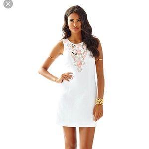 Lilly Pulitzer Logan Shift Dress White (Sz 0) NWT!